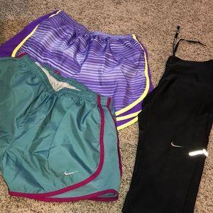 Nike shorts and leggings!!